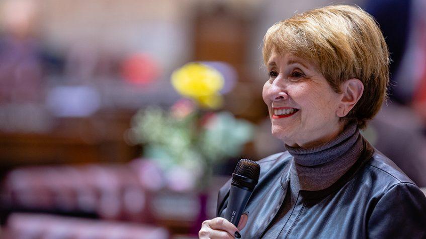 Sen. Lisa Wellman speaking on the Washington State Senate Floor