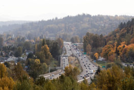 View looking south towards the 30th Legislative District and Hwy 167 from Centennial Viewpoint Park. Auburn, WA.