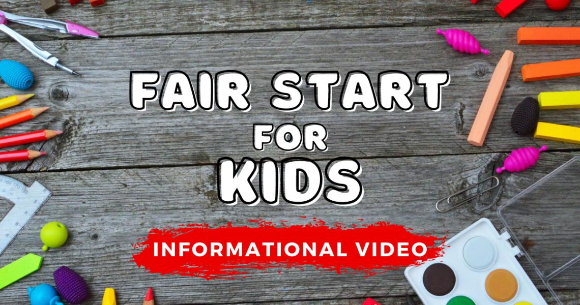 Fair Start for Kids Informational Livestream Video