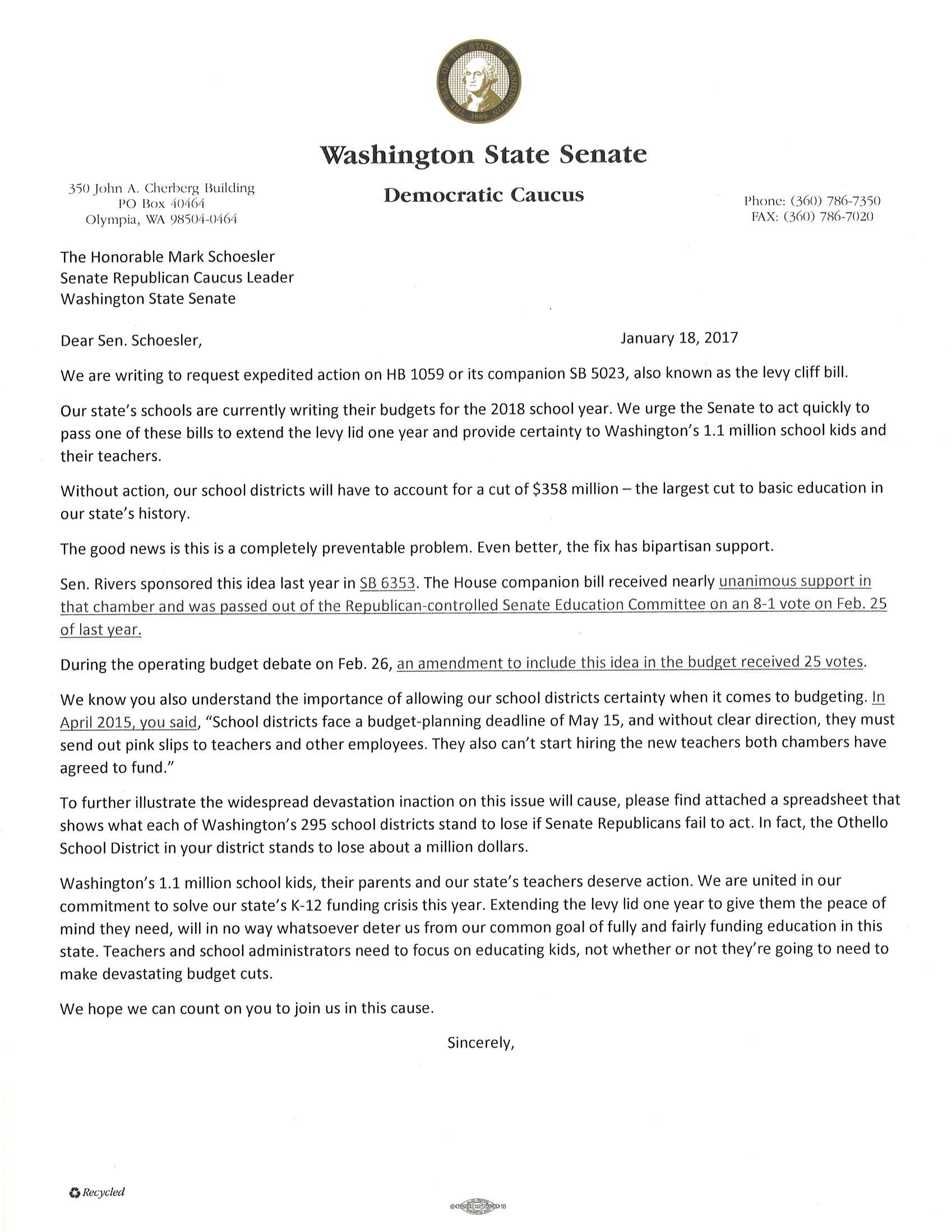 washington state senate democrats democrats urge senate