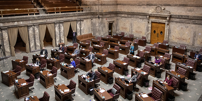 Washington State Senate floor debate, Feb. 2021